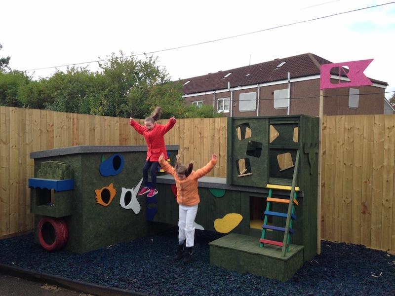 Lauren Gabby Playhouse jump